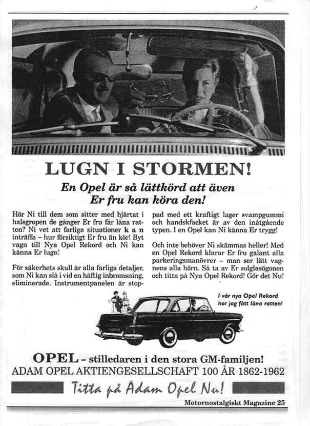 Alltid trygg i en Opel