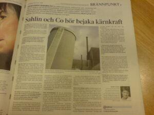 Svenska Dagbladet Brännpunkt 081209