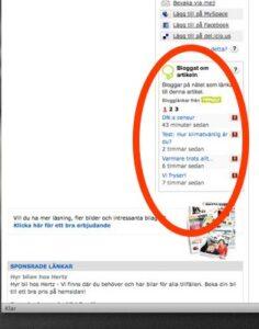 Blogglänkar i DN