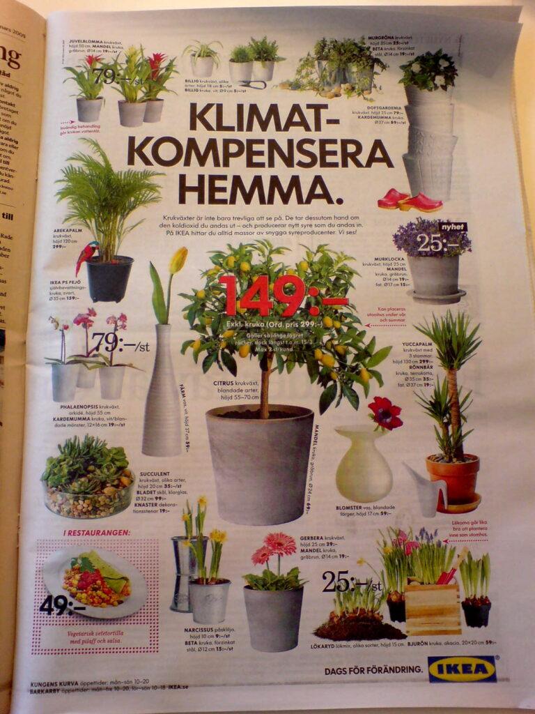 IKEA klimatsatsar