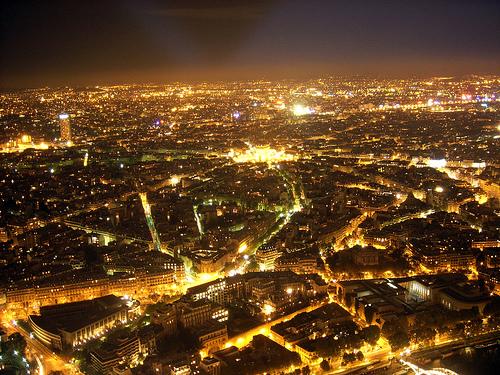 Ljusförorening över Paris