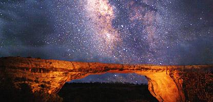 Vintergatan sedd från stjärnparken i Utah