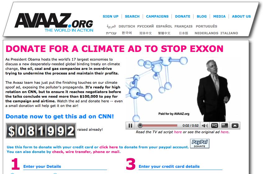 Stoppa Exxon nu!