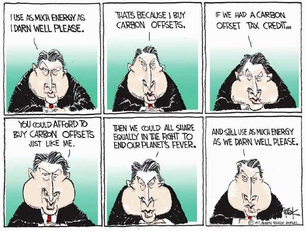 Al Gore carbon offset cartoon