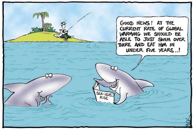 Hajar gläds åt den globala uppvärmningen