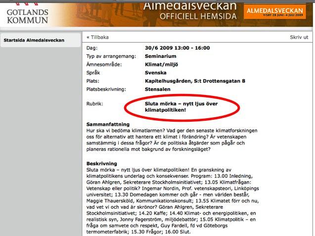 Stockholmsinitiativet i Almedalen