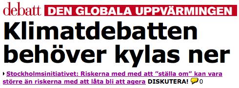 SI på Aftonbladet Debatt
