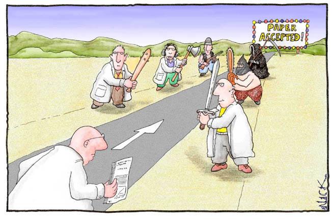 Peer review Cartoon web