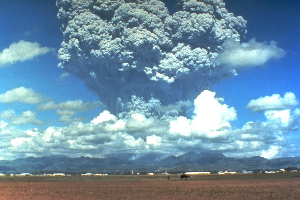 Pinatubos utbrott. Källa: weltum.de