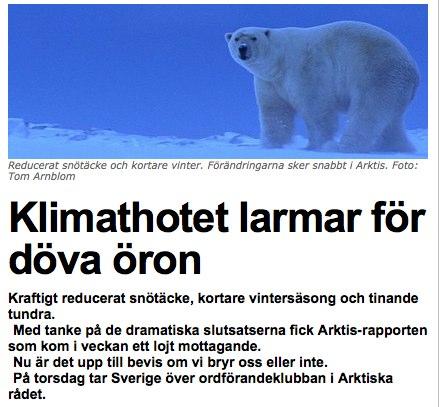 Klimathotet larmar för döva öron Nyheter Senaste nytt Expressen Nyheter Sport Ekonomi Nöje