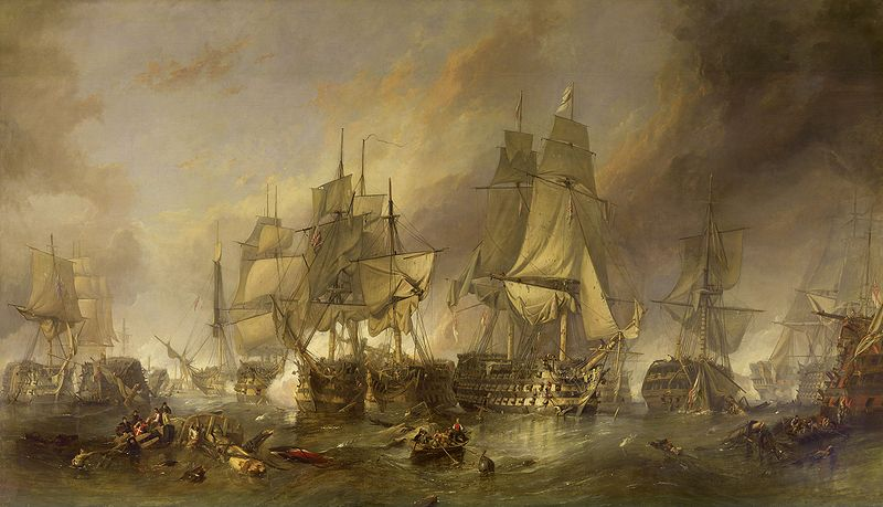 800px The Battle of Trafalgar by William Clarkson Stanfield 1