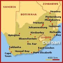 Durban karta