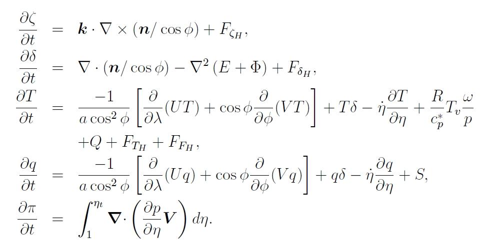 NCAR ekvationer