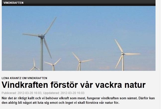 Lenas NW om vindkraft