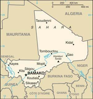 mali map 2010worldfactbook 300 11