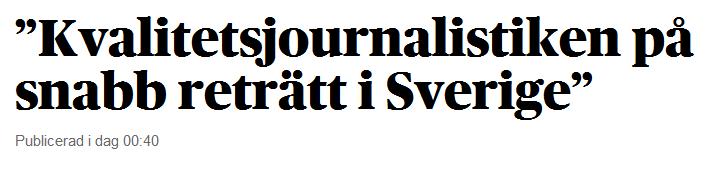Kvalitetsjournalistiken