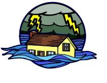 Storm med hus