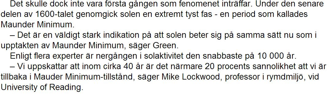Mauder Minimum Expressen