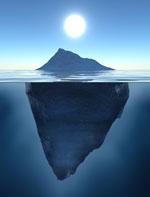 öppen tråd isberg