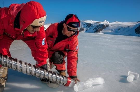 Forskare på Antarktis