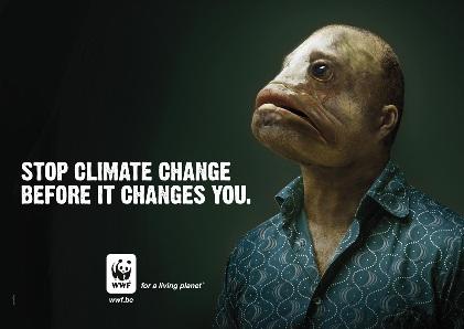 Man med fiskhuvud WWF