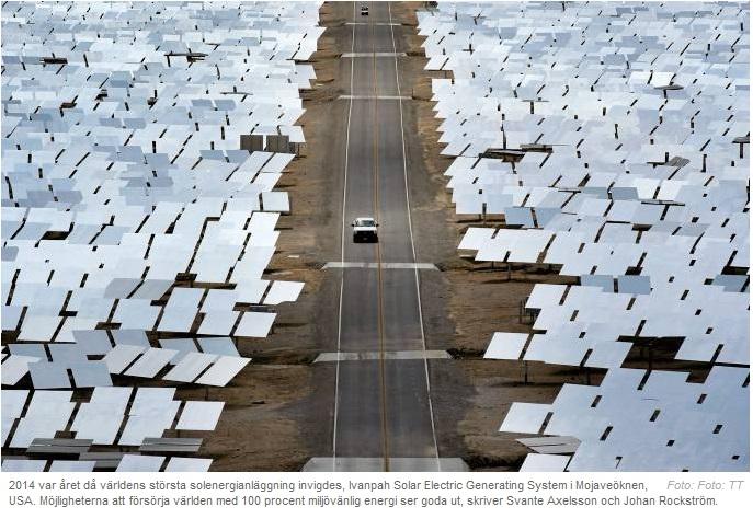 Solcellsanläggning i öknen