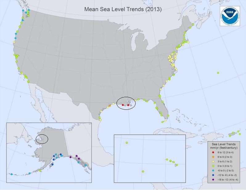 Havshöjning i USA