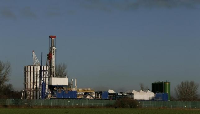 The IGas Energy exploratory gas drilling site is seen at at Barton Moss near Manchester in northern England