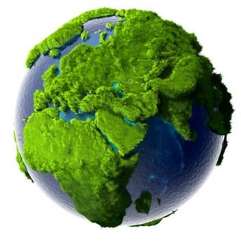 en grön värld