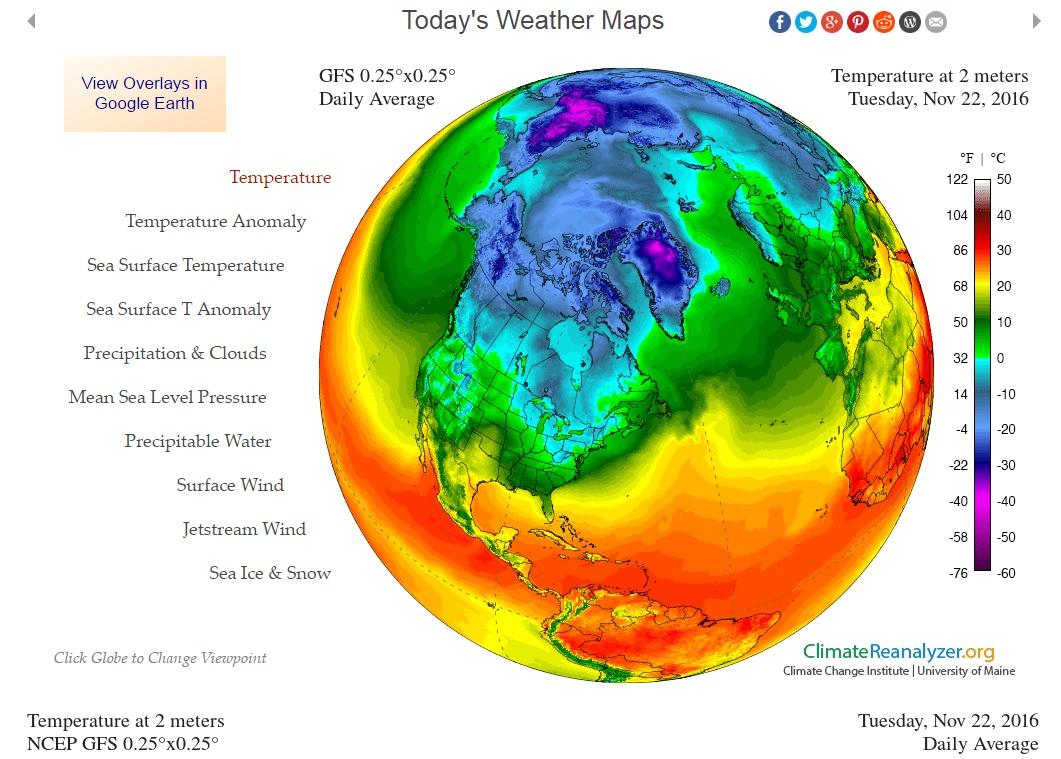 Temp i Arktis 22 nov verklig