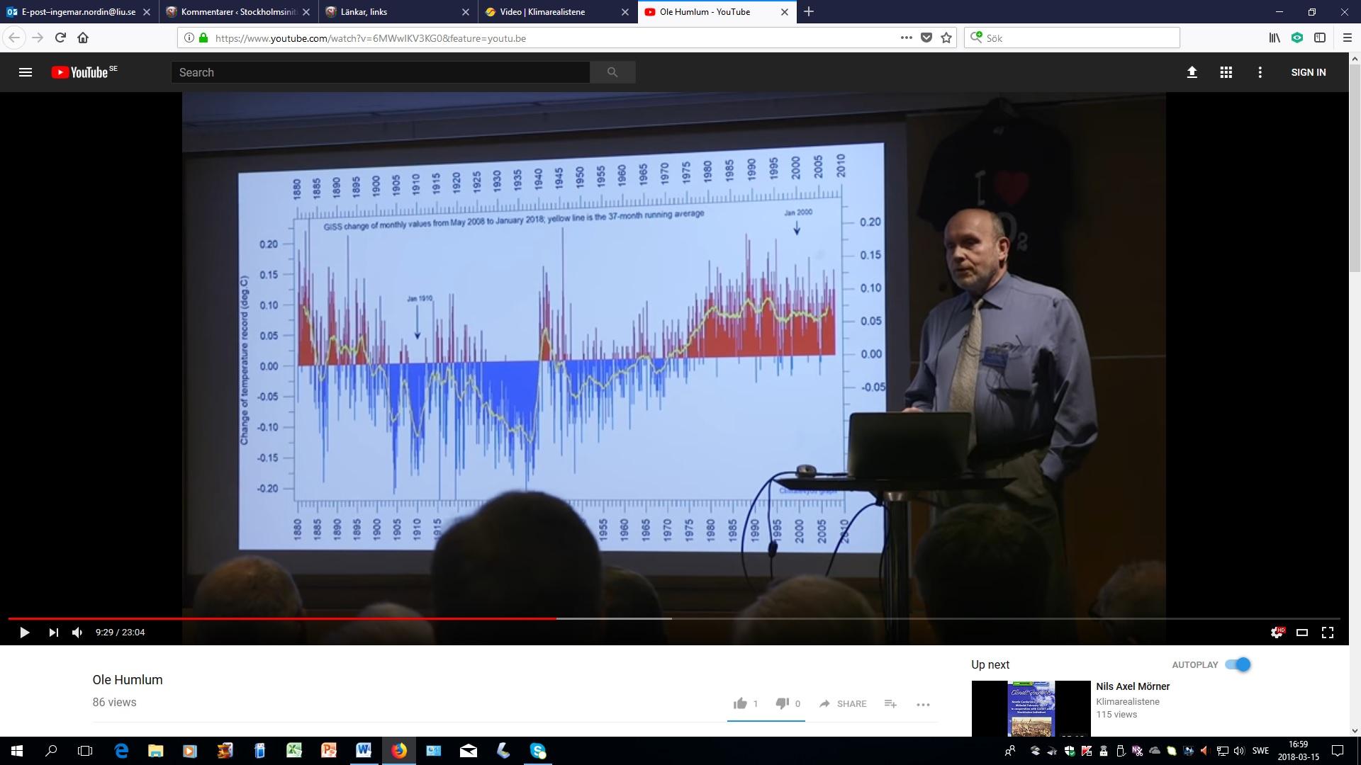 ab560f22f5ce Bilden visar vilka justeringar som GISS har gjort av de historiska basdata  mellan maj 2008 till januari 2018. De blå staplarna visar nedjusteringar  och de ...