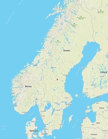 Areal skog karta