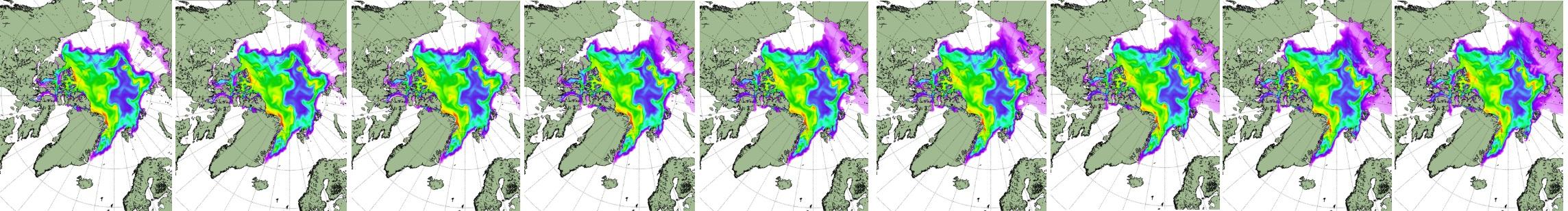 Arktis tillväxt 26 okt till 5 november