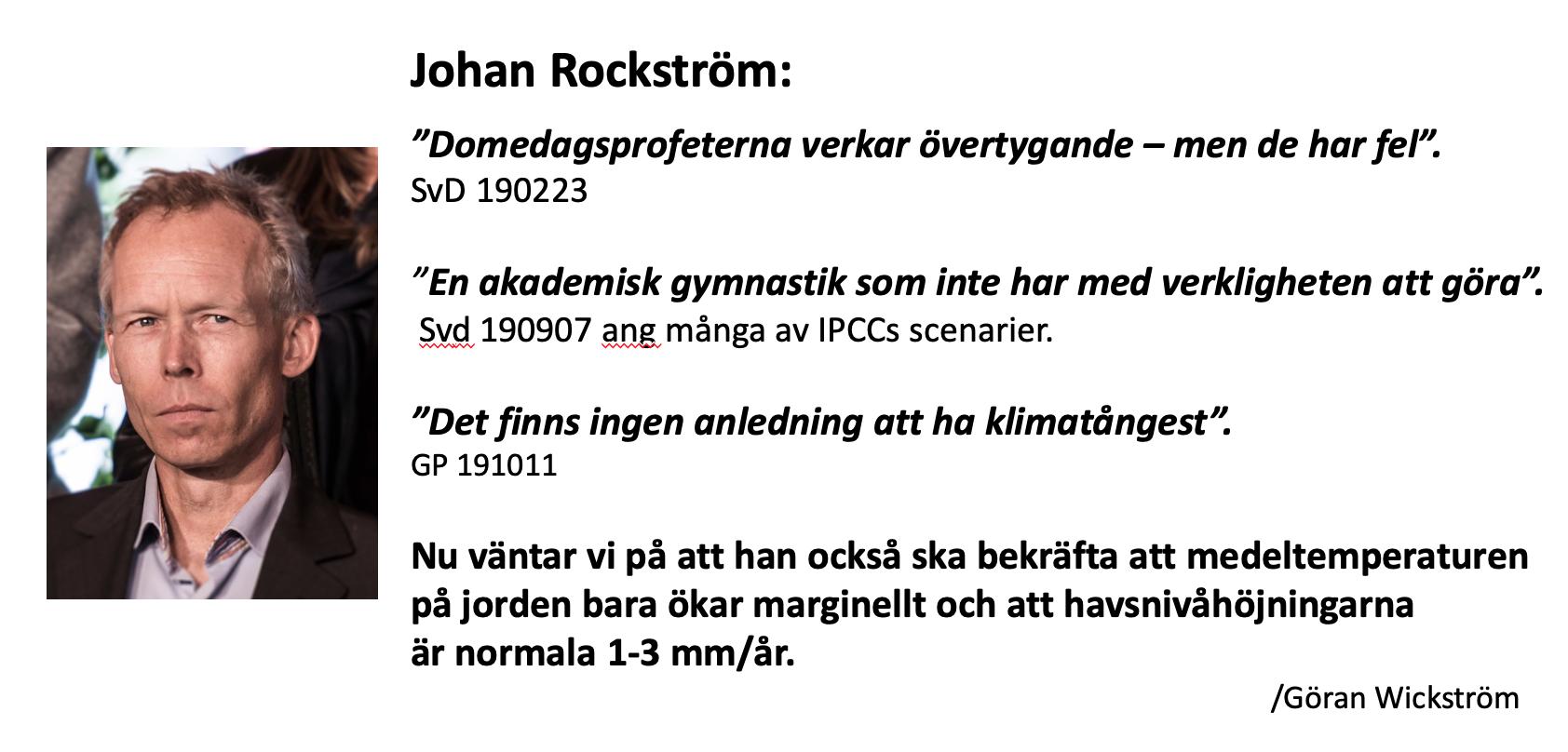 Johan Rockström citat