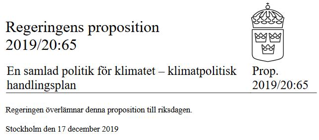 klimatplan dec 2019